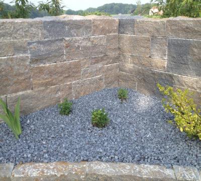 Natursteinmauer Anwendungsbeispiel